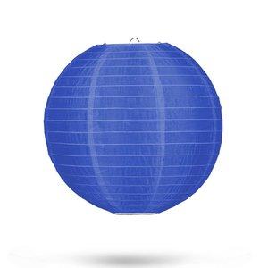 Nylon lampion donkerblauw 25cm
