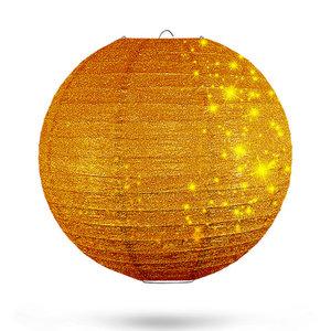 Lampion goud glitter 35cm