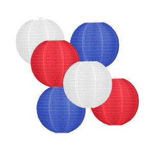 Lampionpakket - Flag Red White Blue - 30-delig N/S