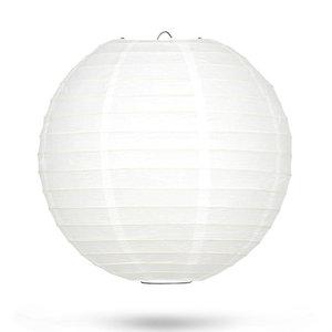 Lampion wit bamboe ring 35cm