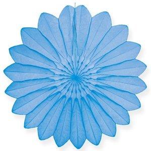 Waaier licht blauw 67cm - Brandvertragend