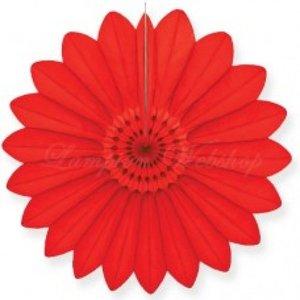 Waaier rood 67cm - Brandvertragend